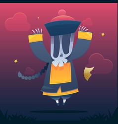 jiangshi chinese vampire vector image vector image