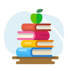 literature and library knowledge and study vector image