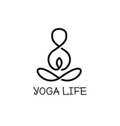 Minimalistic yoga logotype health logo vector