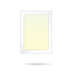 post stamp on white background vector image
