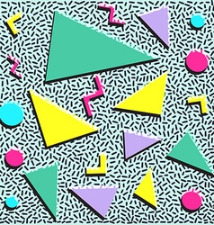 Retro vintage 80s or 90s fashion style abstract vector image