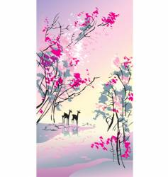seasons spring vector image vector image