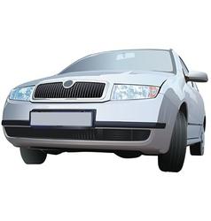 Silver Car vector image