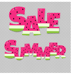 Summer and sale text vector