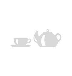 teapot with cup icon vector image