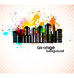 Urban grunge background vector image vector image