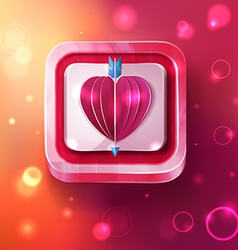 Valentines day card with arrow vector image vector image
