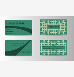 visit card creative template vector image vector image