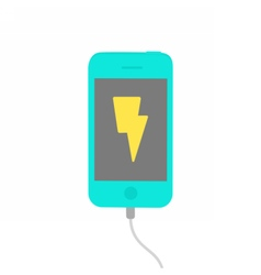 Charging phone isolated on white vector
