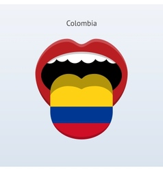 Colombia language abstract human tongue vector