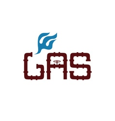 gas industry design template vector image