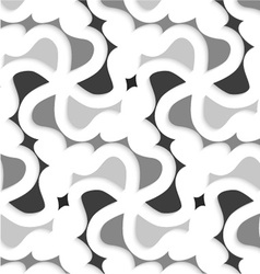 White 3d wavy with shades of gray pattern vector