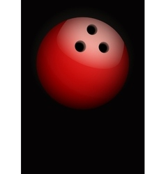 Dark background of bowling ball vector