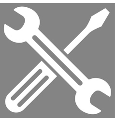 Spanner and screwdriver icon vector