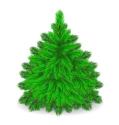 Furry tree vector