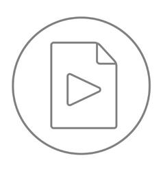 Audio file line icon vector