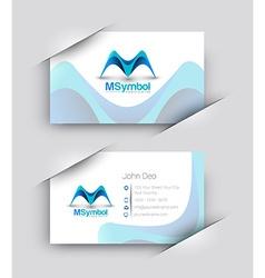 odern Business Card Set vector image