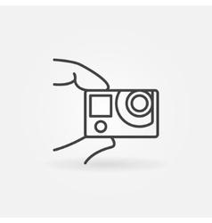 Action camera concept icon vector