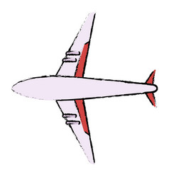 airplane flying isolated icon vector image