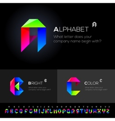 Alphabet Set use as design elements vector image