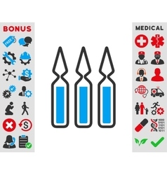 Ampoules Icon vector image