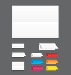 Blank white color folding paper flyer vector image