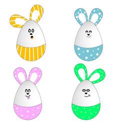 Bunny eggs vector