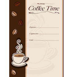 Cafe or restaurant card vector image vector image