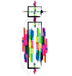 Colorful font - letter i vector