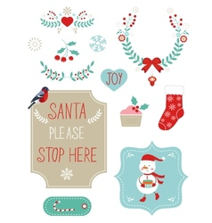 Cute Christmas clipart vector image