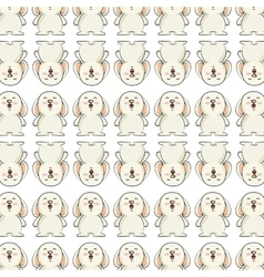 cute little rabbit animal character vector image vector image