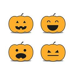 Different helloween pumpkin icons clip-art vector image vector image