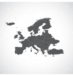 Europe map and communication background vector
