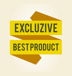 exclusive best product sticker vector image