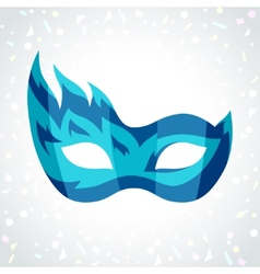 Festive carnival mask on background of confetti vector image