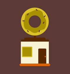 Flat icon donut shop vector