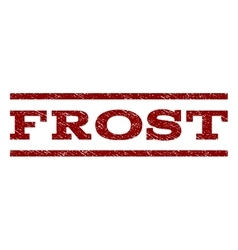 Frost watermark stamp vector