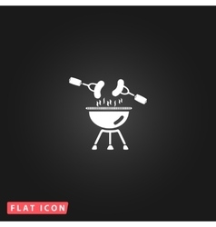 Grill or barbecue icon vector