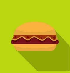 Hamburger icon flat style vector