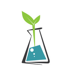 Laboratory ecology logo vector
