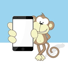 Monkey smartphone vector