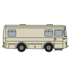 Old transport and service vehicle vector