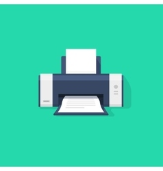 Printer flat icon with shadow vector image