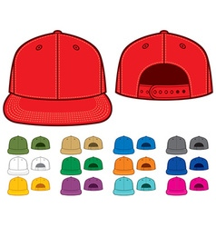 Rap cap set vector image