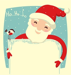 Santa claus card for text vector