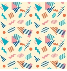 Seamless retro geometric pattern background vector