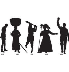slavery vector image vector image