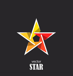 star flat 3d abstract symbol popularity concept vector image vector image