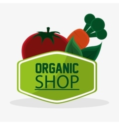 Tomato carrot organic shop meal natural vegan vector