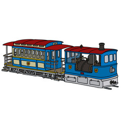 Vintage steam tramway vector